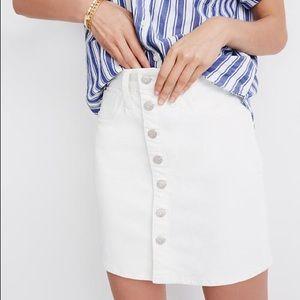 Madewell Straight Denim Mini Skirt